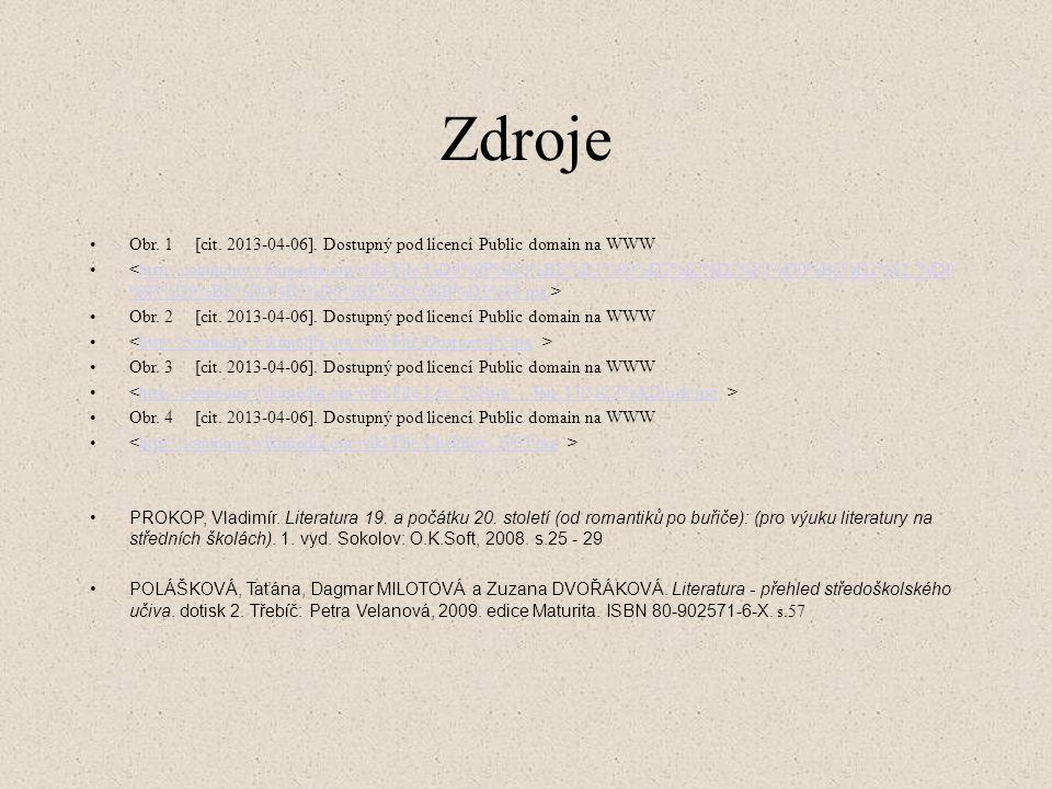 Zdroje Obr. 1 [cit. 2013-04-06]. Dostupný pod licencí Public domain na WWW.